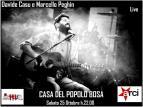 Eventi - Davide Casu e Marcello Peghin Live alla Casa del Popolo - Bosa - Oristano