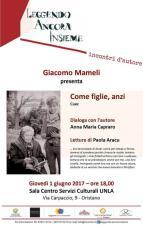 Eventi - Leggendo ancora insieme con Giacomo Mameli - Oristano