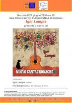 Eventi - Presentazione CD Nuovo Cantacronache 4 di Igor Lampis - Oristano
