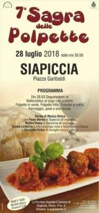 Eventi - Sagra delle polpette 2018 - Siapiccia - Oristano